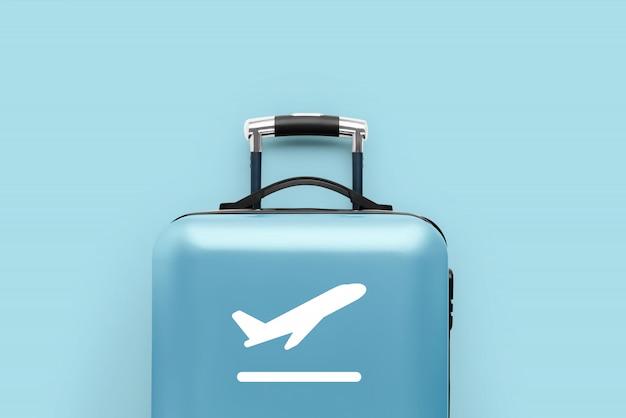 Reis en vliegtuig met de bagage Premium Foto