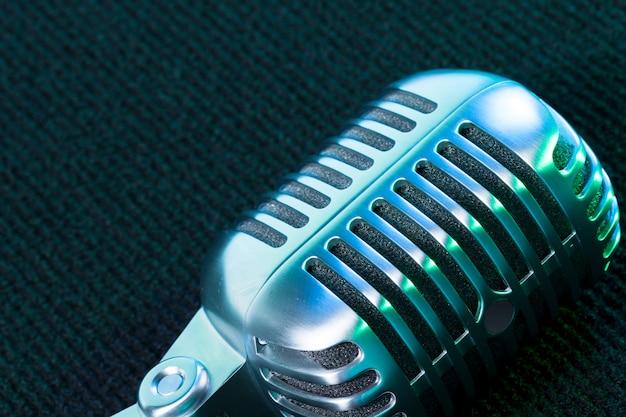 Retro microfoon Premium Foto