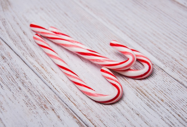 Riet van het suikergoed van kerstmis Premium Foto