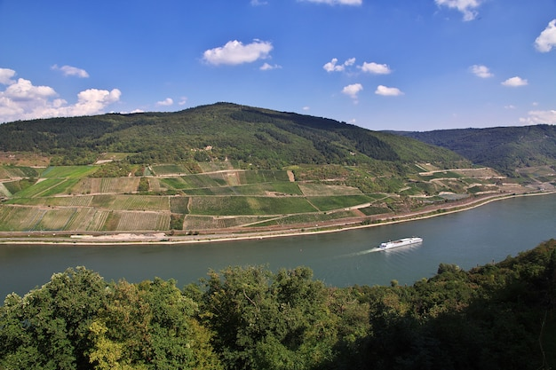 Rijnvallei in west-duitsland Premium Foto