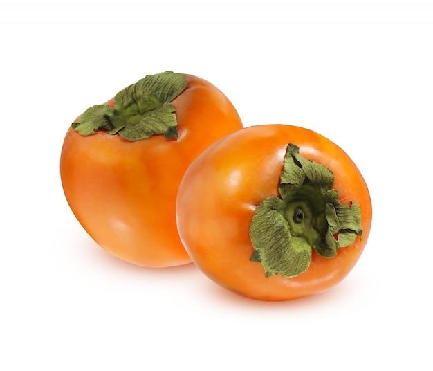 Rijpe persimmon geïsoleerd Premium Foto