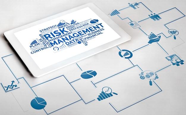 Risicobeheer en beoordeling voor bedrijven Premium Foto