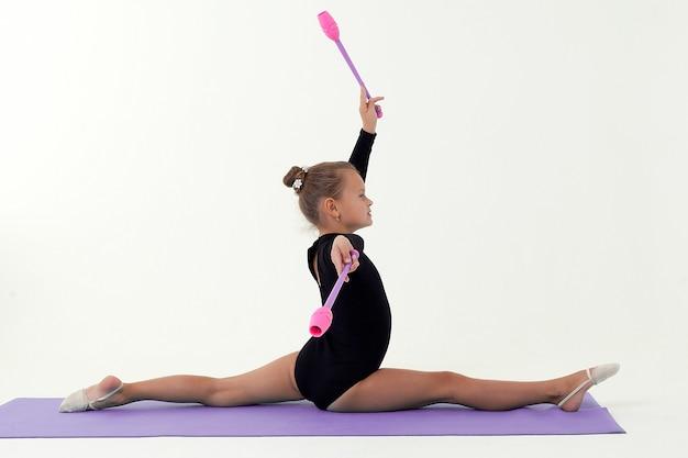 Ritmische gymnastiek Premium Foto
