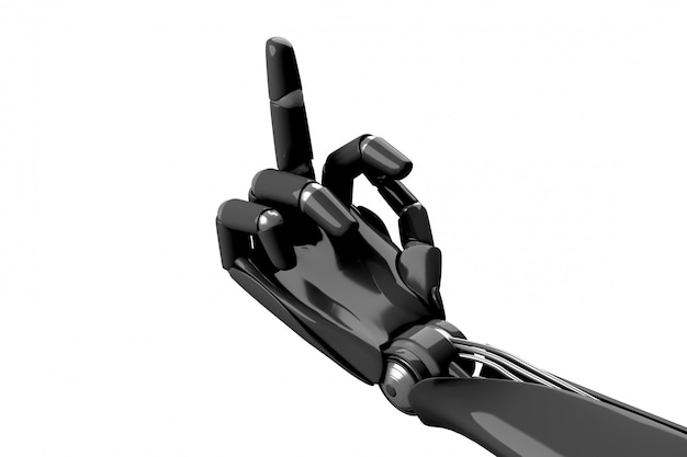 Robotachtige hand die het gebaar toont neukt Premium Foto