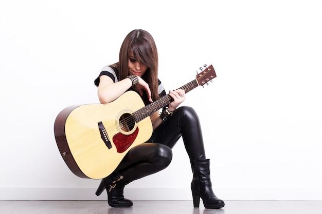 Rockgitarist Premium Foto