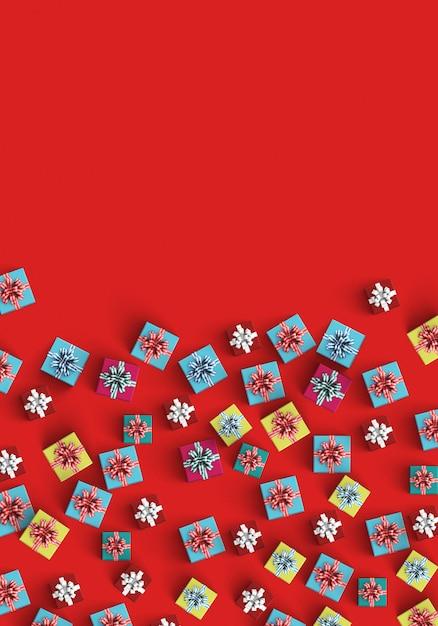 Rode achtergrond met giften Gratis Foto