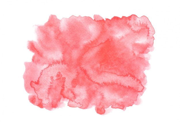 Rode aquarel vlek met kleur tinten verf achtergrond Premium Foto