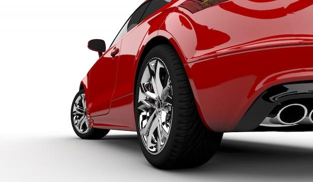 Rode auto Premium Foto