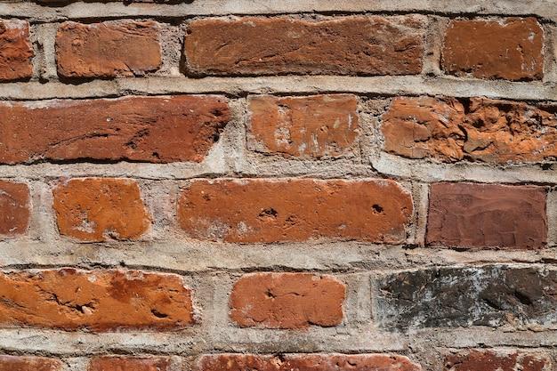 Rode bakstenen muurachtergrond Premium Foto