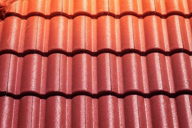 Rode dakpannen Premium Foto