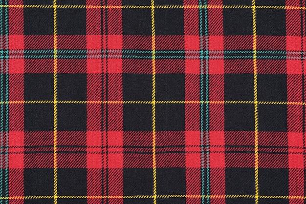 Rode doek tartan achtergrond of textuur. Premium Foto