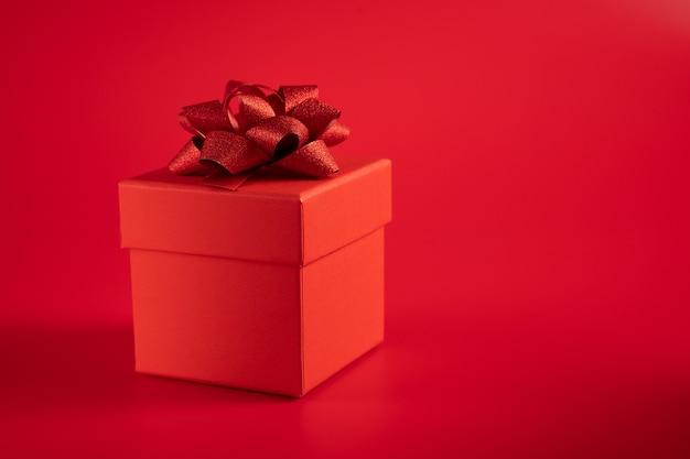Rode geschenkdoos Premium Foto