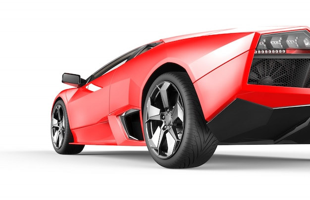Rode luxesportwagen Premium Foto