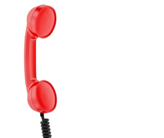 Rode retro telefoon. Premium Foto