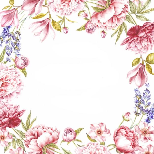 Rode rozen frame achtergrond Premium Foto