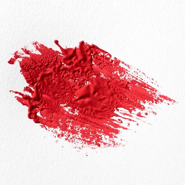 Rode verf vlek abstracte kunst Gratis Foto