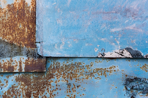 Roestige blauwe metalen achtergrond Gratis Foto