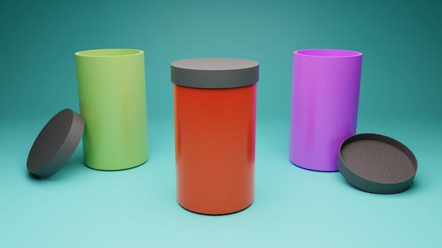Roestvrij waterfles met mokstijl voor mockup en branding Premium Foto