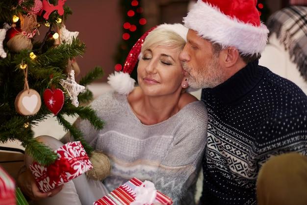 Romantische kerstavond met mijn man Gratis Foto