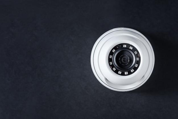 Ronde cctv-camera. beveiligingssysteem. Premium Foto