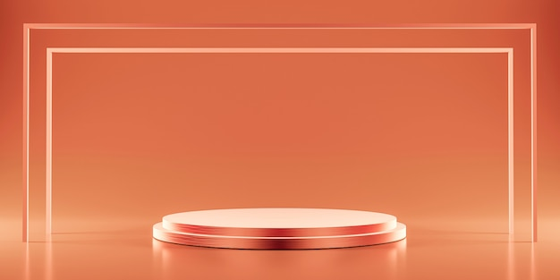 Rose goud platform voor het tonen van product Premium Foto