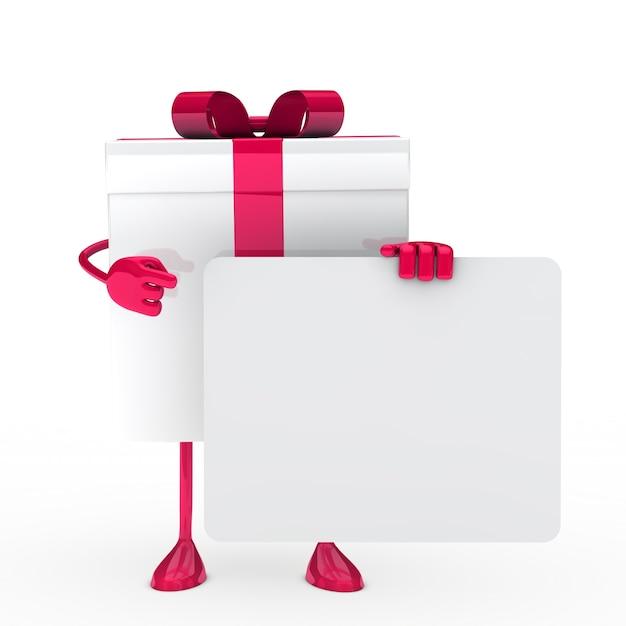 Roze cadeau met een poster Gratis Foto