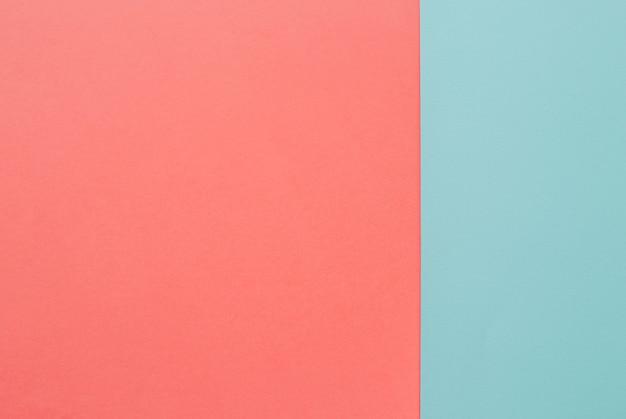 Roze en blauwe platte achtergrond Premium Foto
