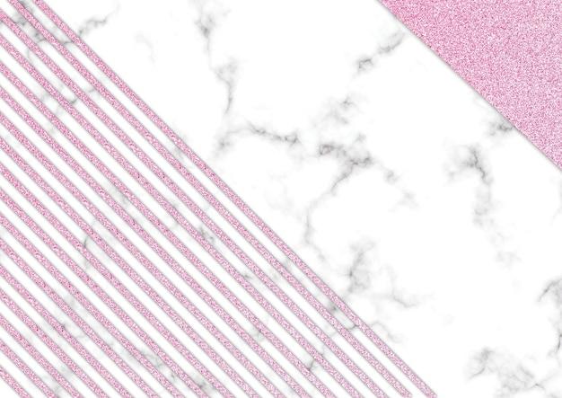 Roze glitter marmer blackground, shimmer glitter textuur, sjabloon presentatie Premium Foto