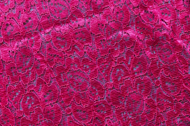 Roze kant naadloze patroon textiel Gratis Foto
