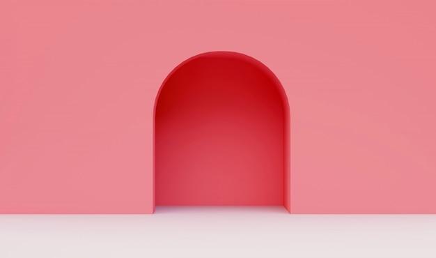 Roze muur minimaal Premium Foto