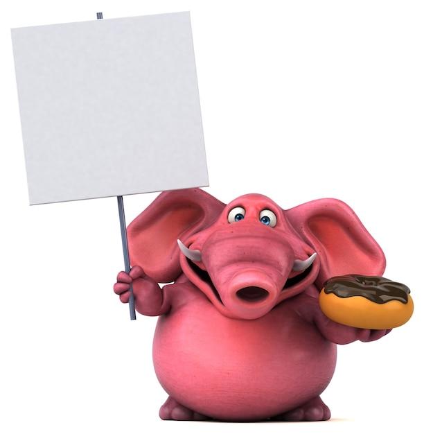 Roze olifant illustratie Premium Foto