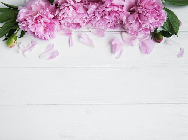 Roze pioenbloemen Premium Foto
