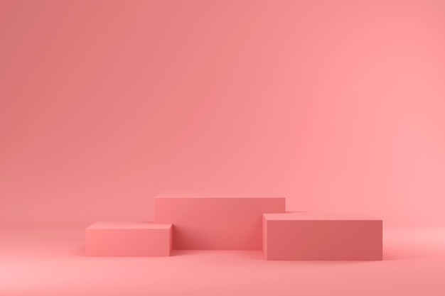 Roze podium concept Premium Foto
