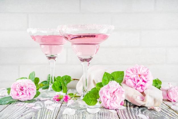 Roze roos cocktai Premium Foto