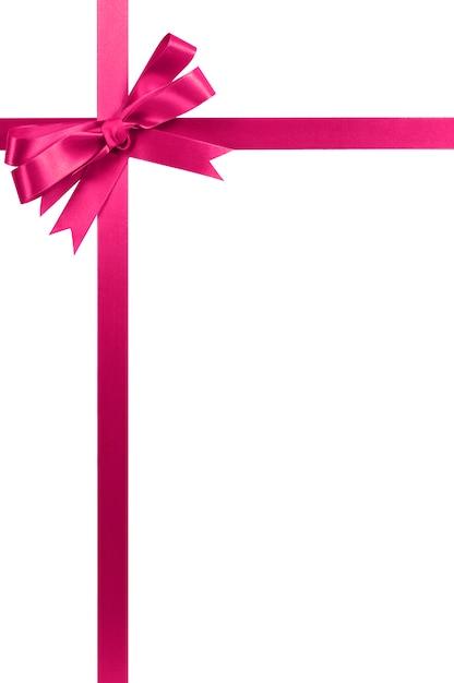 Roze strik en lint Premium Foto