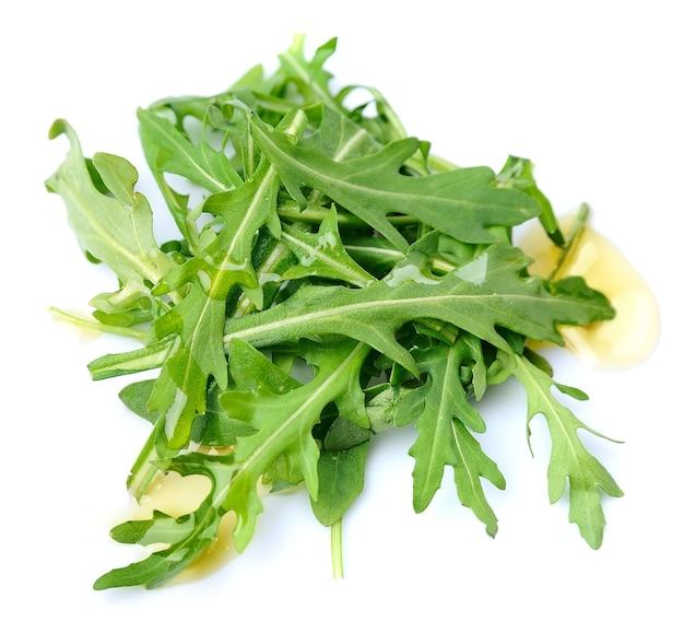 Rucola verlaat salade met olijfolie Premium Foto