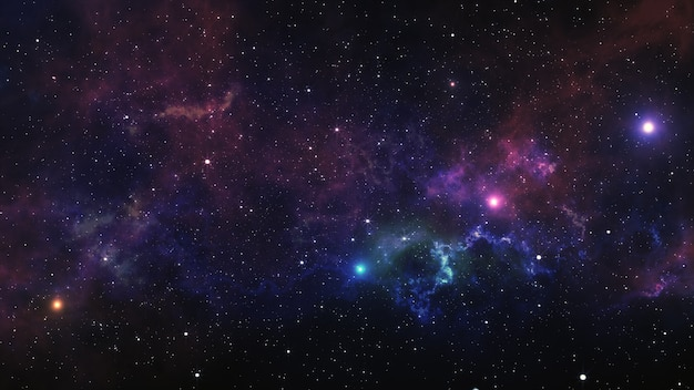 Ruimte nevel. 3d illustratie, voor gebruik met projecten op het gebied van wetenschap, onderzoek en onderwijs. Premium Foto