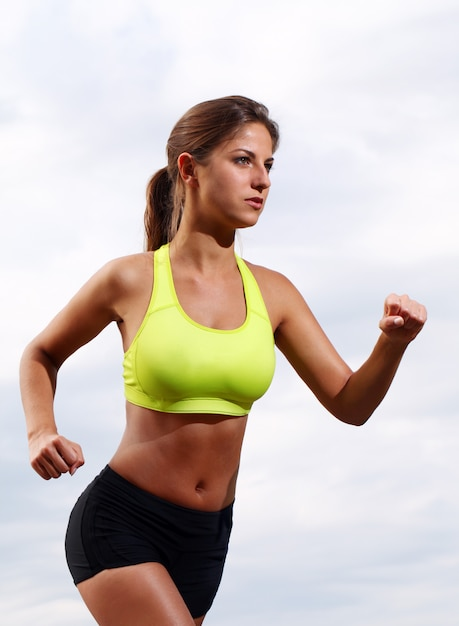 Running fitness meisje Gratis Foto