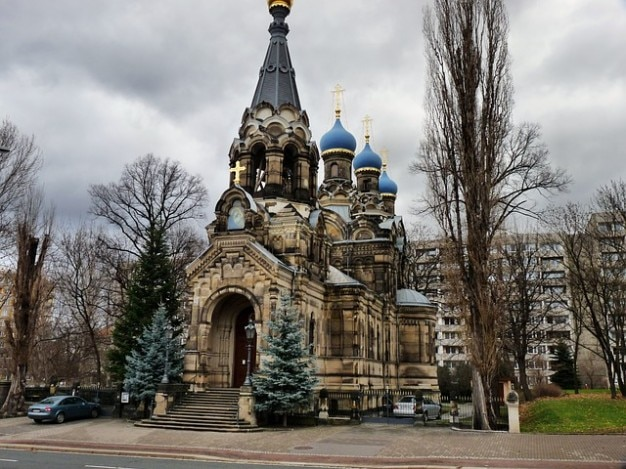 russische kerk orthodoxe dresden foto gratis download. Black Bedroom Furniture Sets. Home Design Ideas