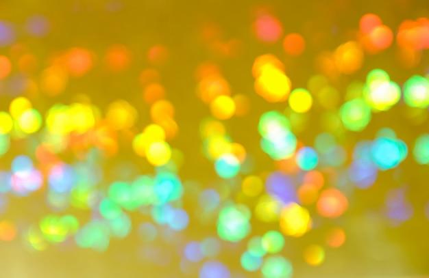 Samenvatting wazig van kleurrijke glinsterende glans lamp lichten Premium Foto
