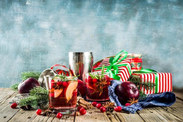 Sangria-cocktail in de winter Premium Foto