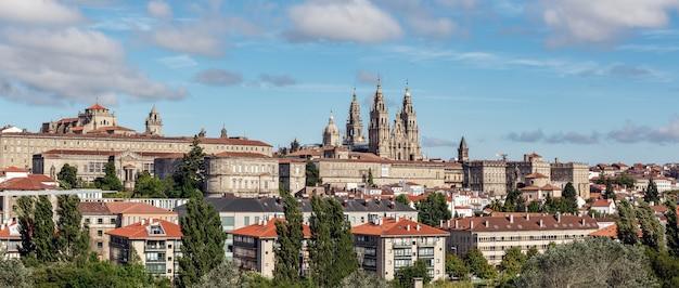 Santiago de compostela panoramisch uitzicht Premium Foto