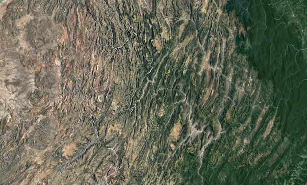 Satelliet bovenaanzicht textuur over bolivia Premium Foto