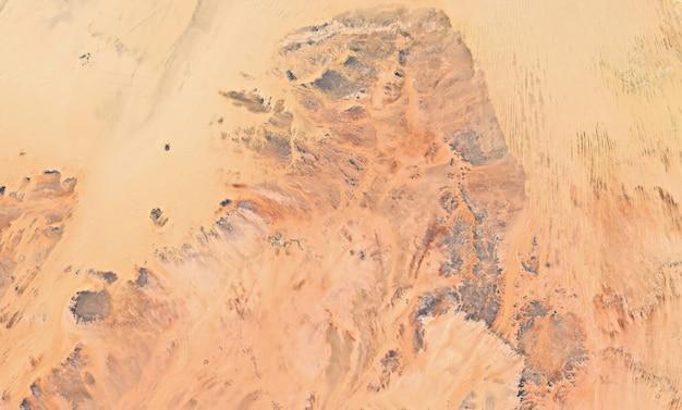 Satelliet bovenaanzicht textuur over egypte Premium Foto
