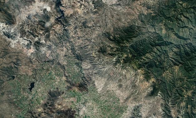 Satelliet bovenaanzicht textuur over mexico Premium Foto