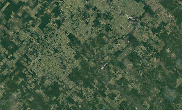 Satelliet bovenaanzicht textuur over paraguay Premium Foto