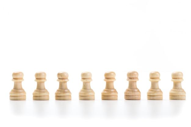 Schaakspel of schaakstukken Premium Foto