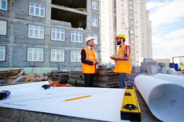 Schets van nieuwbouw Gratis Foto