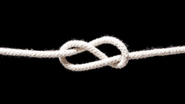 Schip witte touwen eenvoudige knoop Gratis Foto