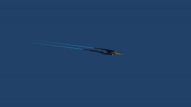 Screen wallpaprer of science fictief beeld van een diep ruimteschip en een melkweg Premium Foto